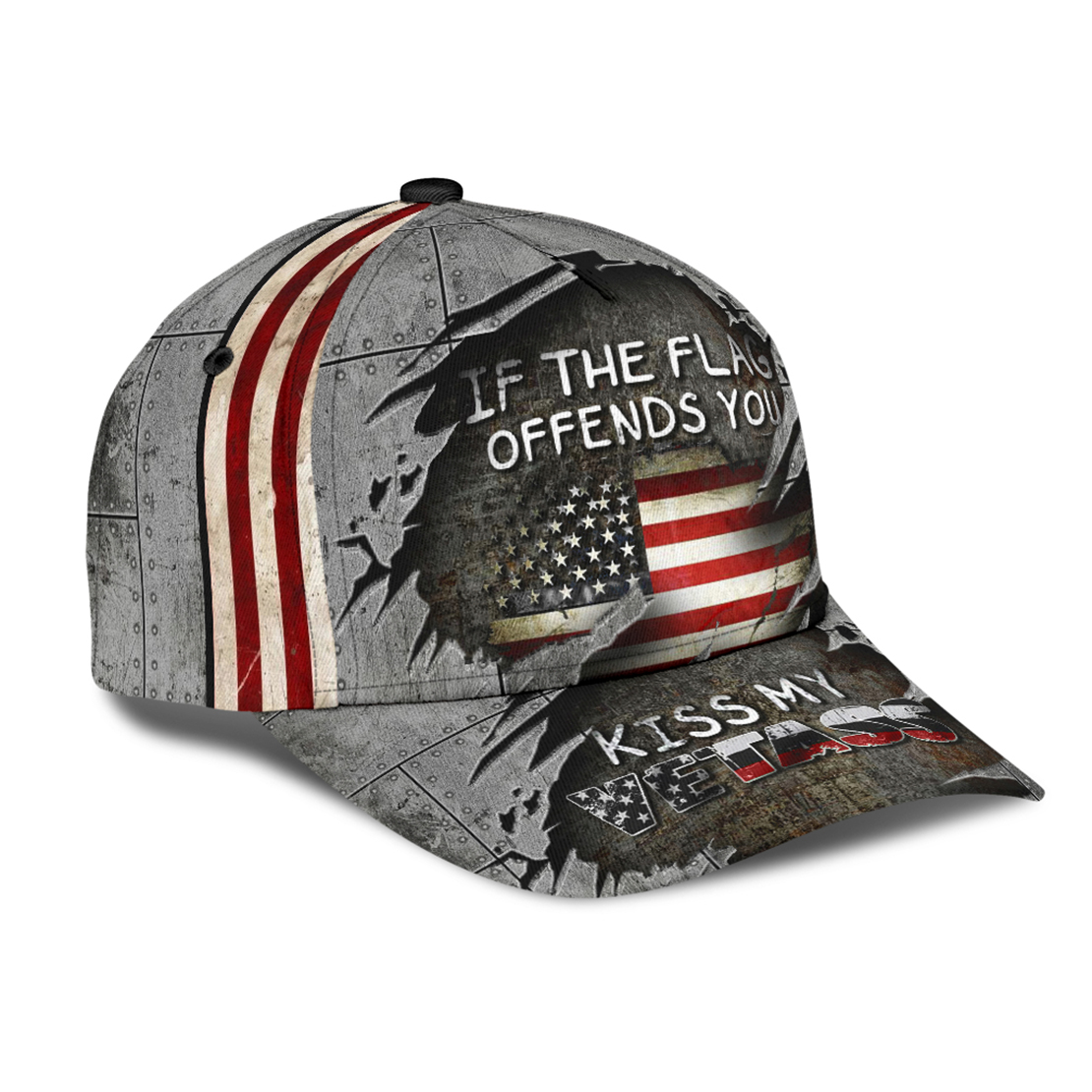 Veteran If the flag offends you kiss my vetass cap - Picture 2