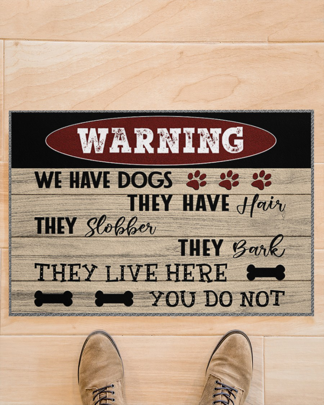 Warning we have dogs they have hair doormat - Picture 1