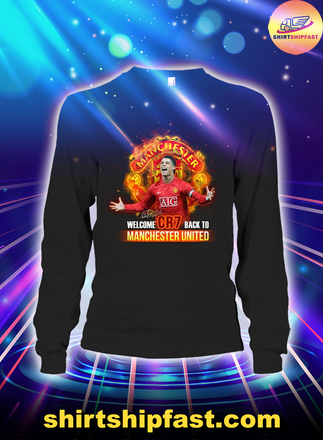 Welcome CR7 back to Manchester United long sleeve tee