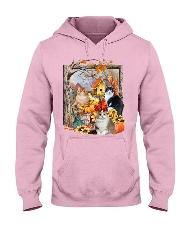Cats And Autumn Hoodie