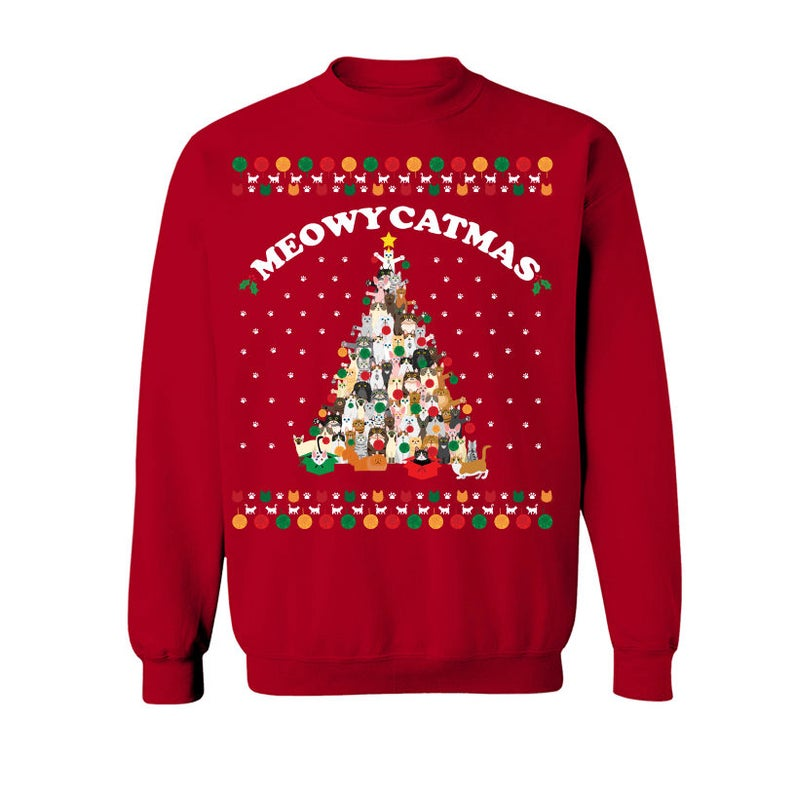 Meowy Catmas Christmas Ugly Sweater, Hoodie And T-Shirt