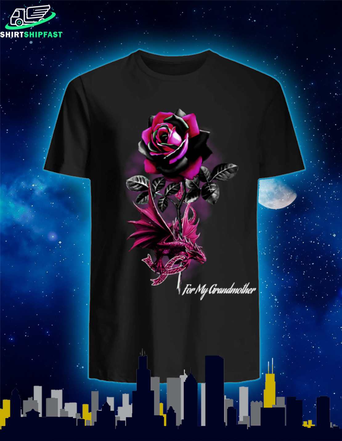Personalized Breast cancer awareness dragon black rose shirt